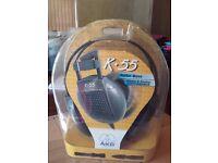 AKG K55 stereo headphones - still in packaging