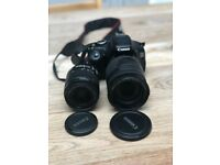 Canon EOS 600D with 2 EFS lenses 18-200mm and 18-55mm + charger and bag