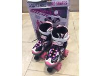 Adjustable quad skates size 1-3 excellent condition