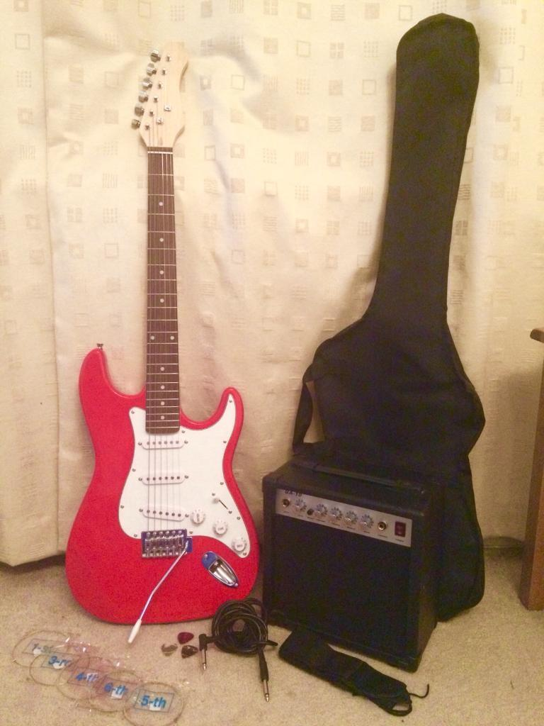 Electric guitar (full size) & amp