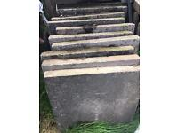 Thick garden slabs