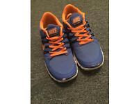 Nike trainers free runners blue and orange