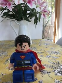 Lego Superman alarm clock