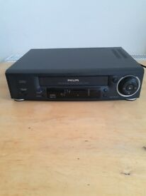 Philips VR 668/05 VHS VCR Video Cassette Tape Recorder, Turbo Drive