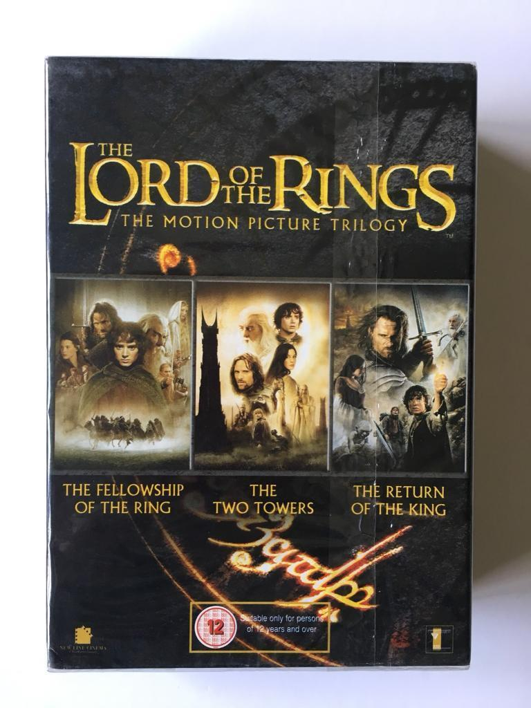 Lord of the rings trilogy (sealed) dvd box set