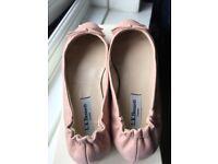L K Bennett Pink Leather Ballet Pumps