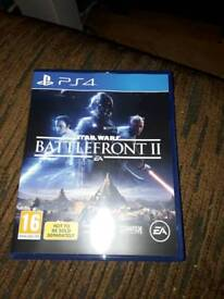 Battlefront II PS4 Game only used once