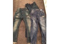 Boys jeans x3 pairs age 12 & 13yrs