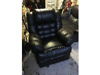 2 seater sofa and reclining arm chair.