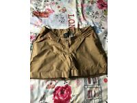 Size 10 Next cream maternity shorts