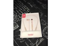 Dr Dre Beats X Bluetooth Matte Gold Headphones. Brand new in box never opened.