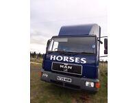 Horsebox 7.5 ton MAN good runner MOT till end April 2017