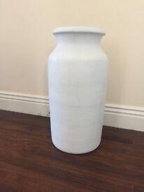 Large vase painted white