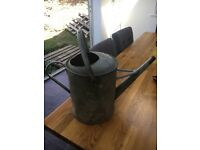Large galvanised watering can vintage