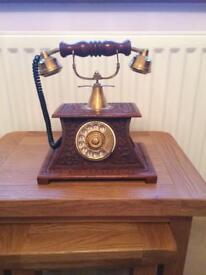 Vintage phone wooden