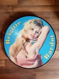 Brigitte Bardot Vinyl Clock