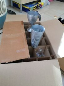 Set of 12 silver glass items(6 goblets and 6 glasses)NEW £5