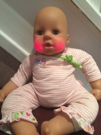 LOVELY BABY CHOU CHOU DOLL WITH TEETHING CHEEKS AND GROWS TEETH