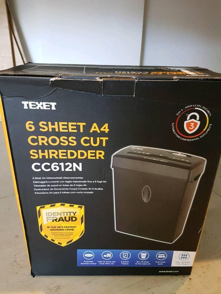 Texet A4 shredders