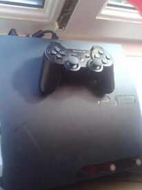 sony playastation 3 160 gb whit games 4 games and 1 controler charger