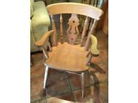 Wax pine kitchen table & 6 chairs