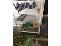 Large Rat/Ferret/Chinchilla Cage with Accessories