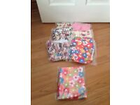 Little blooms reusable nappies and bag
