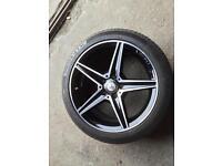 """Mercedes Benz C220 AMG, 18"""" Alloy Wheel & Tyre"""