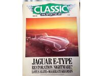 APPROX 100 CLASSIC CAR MAGAZINES mags
