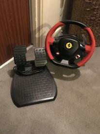 Xbox one thrustmaster Steering wheel and pedals