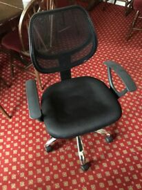 Swivel chair black used but in good condition from a smoke free & pet free home