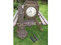 Old Antique French Comptoise Clock