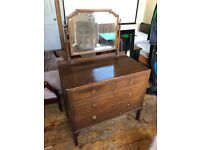 Edwardian dressing chest with drawers and mirror top