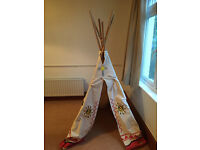 Kids wigwam/teepee indoor or outdoor