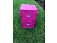 Pink Filing Cabinet 2 Drawer £30
