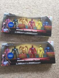 Brand new in box power rangers sets