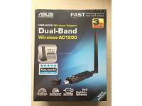 ASUS USB-AC56 Wireless Adapter to add 802.11ac dual-band wireless capability to laptop