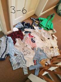 Baby boys 3-6 months clothing