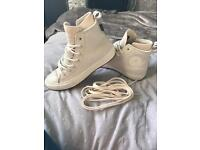Genuine leather converse hi top trainers boots