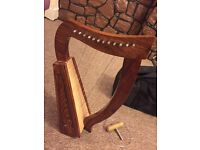 Harp 12 strings Made by EXELLENT Quality Rosewood