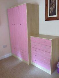 Girls Pink Bedroom Furniture set