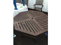 Hexagonal. Garden table £25 free delivery.