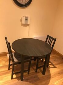 Wood table + chairs