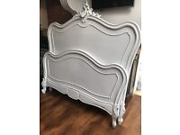 French Antique Armoire Double bed frame