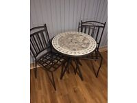 Lovely Patio/Balcony Table & 2 chairs