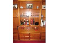 3 Nathan Teak wall units. 1970's storage/display cabinets.