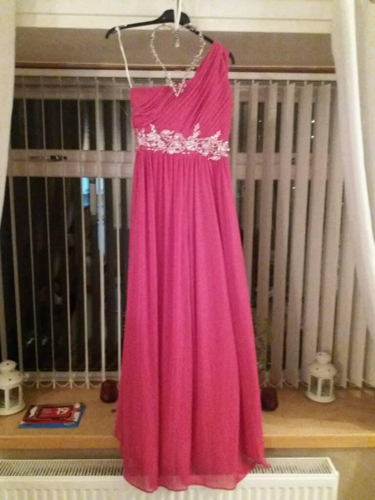 Fuschia pink bridesmaid/prom dress