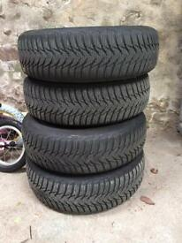 4 wheels 165/65R15 - steel rims and Goodyear tyres