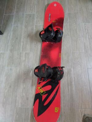 vintage 1993 Snowboard BURTON AIR 5.1 Red 150cm BEE Demo Canada