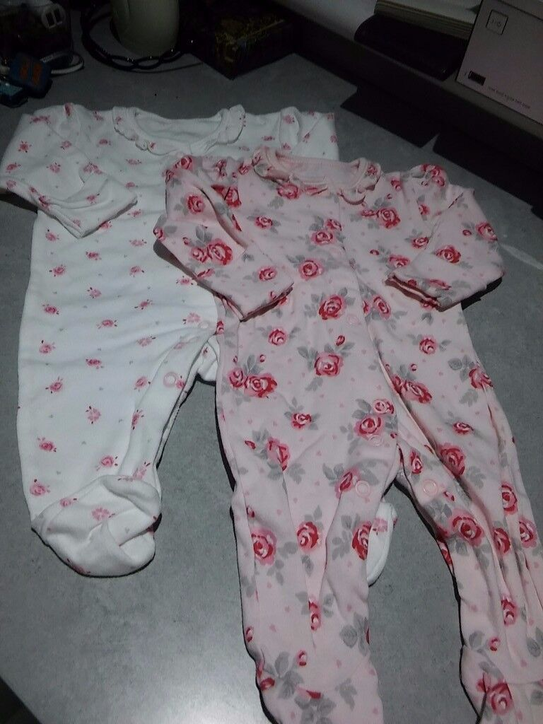 selection of baby girl clothes 0/3 mths